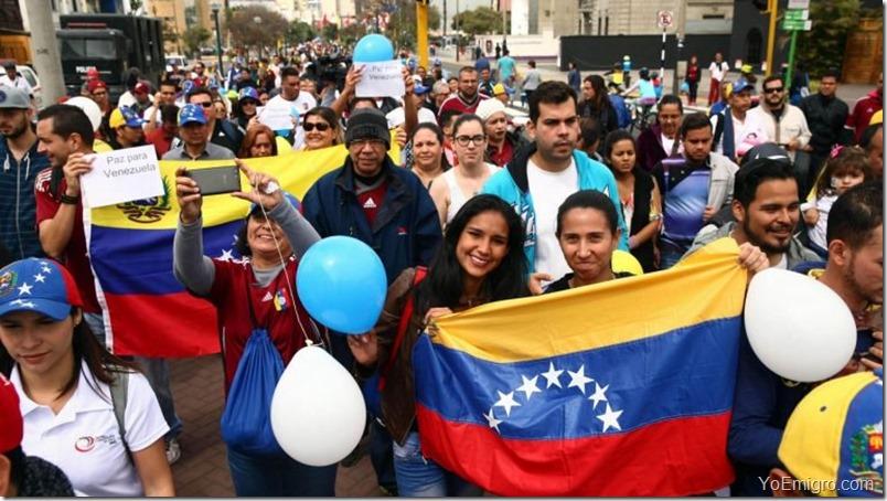 venezolanos-peru-bandera